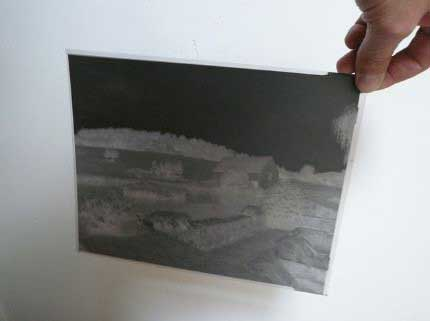the negative 20x25cm film, its large size is particularly useful for contact printing