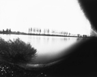 Pinhole photo of the Seine near Herblay on large size photo paper