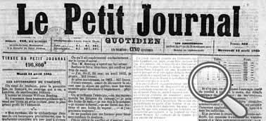 Le Petit Journal on april 12, 1865